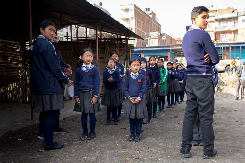 École à Bodnath. Katmandou, février 2019
