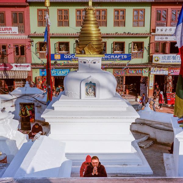 Sanctuaire bouddhiste de Bodnath. Katmandou, mars 2019