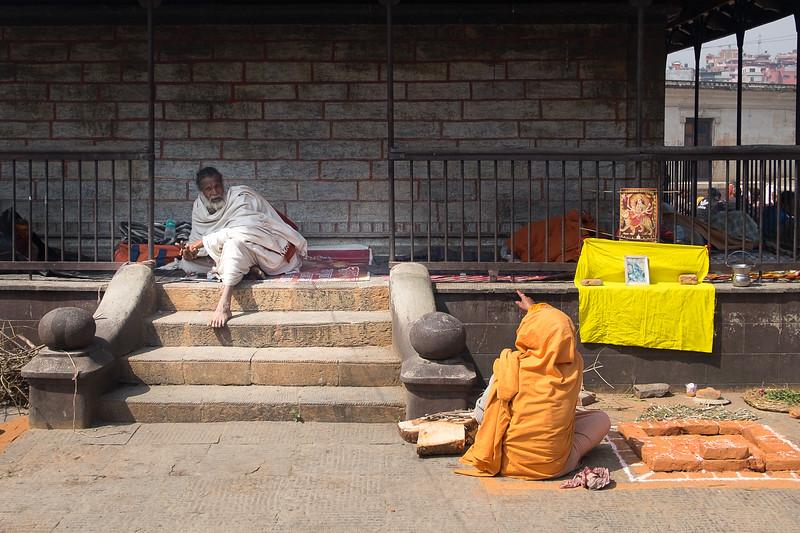Sanctuaire hindou de Pashupatinath lors du Maha Shivaratri (Anniversaire du mariage de Shiva et Parvati). Katmandou, mars 2019