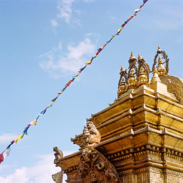 Sanctuaire bouddhiste de Swayambunath. Katmandou, février 2019