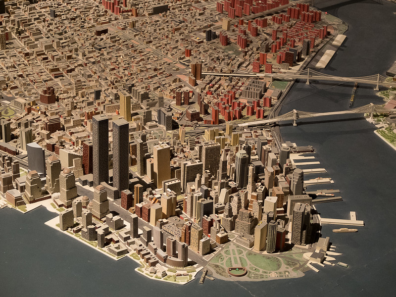 Panorama of the City of New York, Queens Museum. Mars 2014