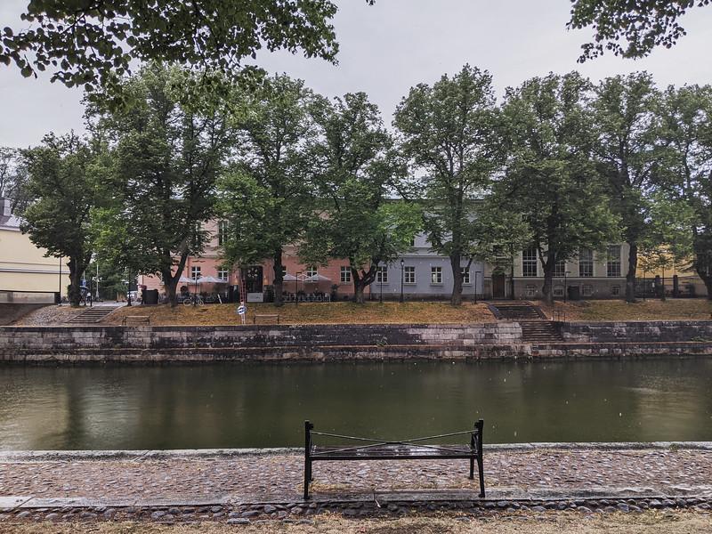 Turku sous la pluie (Finlande)