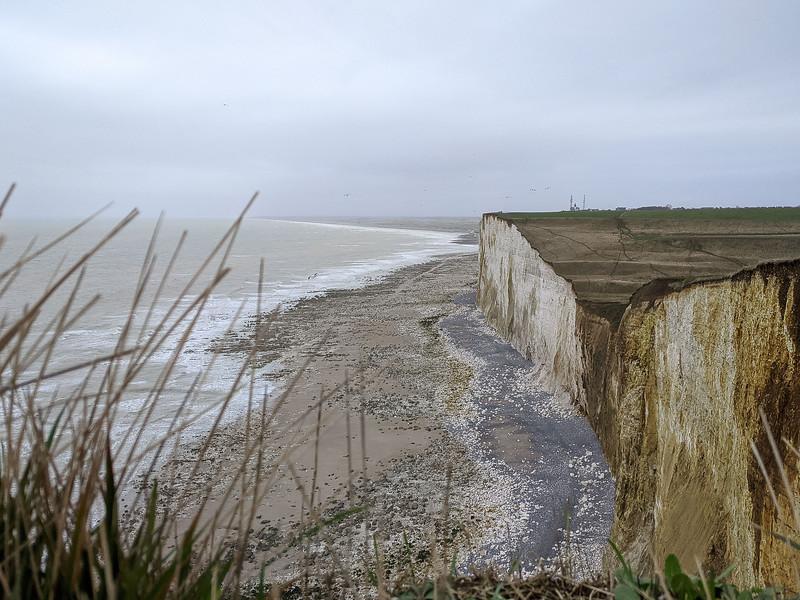 Falaises d'Ault au Tréport. Somme. Janvier 2020