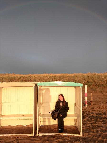 Plage de Katwijk aan Zee. Hollande. Mai 2017