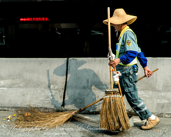 Early morning street sweeper