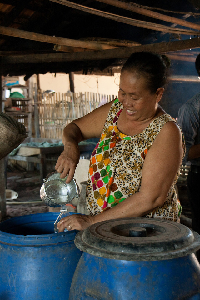 Preparing Lao Lao (or Whisky Lao: 50%vol of alcohol)