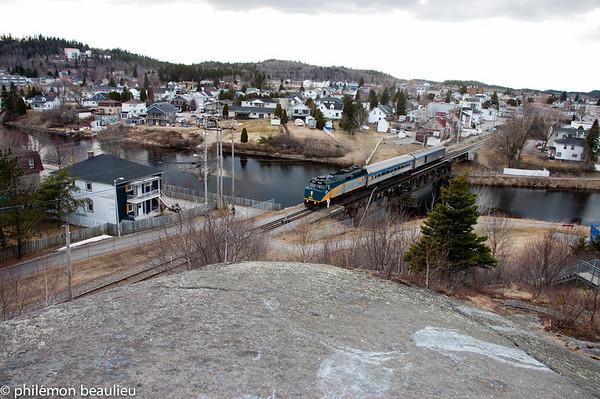 Le train Montréal-Jonquière
