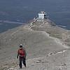 Odette vient me rejoindre sur le sommet du mont  whisler à Jasper