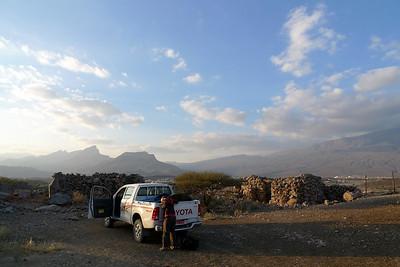 Vue aussi vers l'Ouest sur la plaine d'Al Hamra et le Jebel Ghul... 270° de panorama...