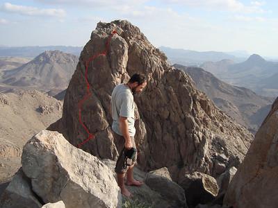 Le haut de la voie vu depuis la Tour Centrale