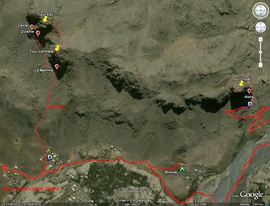 Oman, Al Hamra - Plan d'accès
