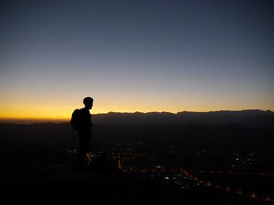 Seb au sommet de la Tour, après une belle ouverture et quelques émotions fortes... Elle est pas belle la vie ?