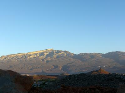Lever de soleil au bivouac d'Al Hamra sur le Jebel Shams...