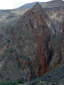 Snake Canyon Rive Droite, le Pilier