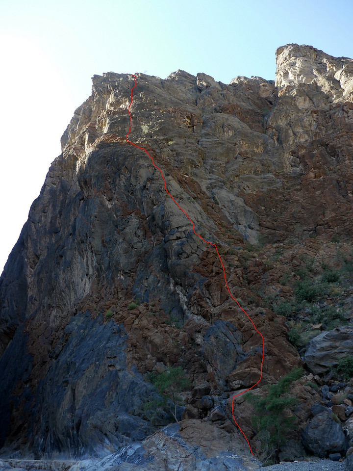 Snake Canyon, Pilier RG, Color Line