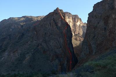 Snake Canyon, Tour Ouest, voie du pilier