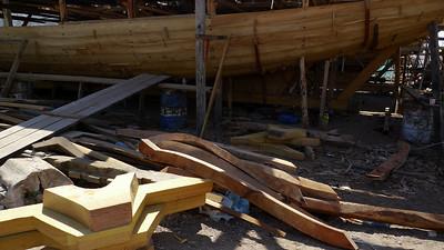 Mise en forme des pièces de bois...