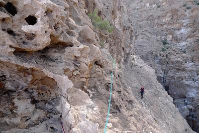 Et puis voilà ! 100m d'escalade ahurissante dans un cadre somptueux, sur un rocher il est vrai, exceptionnel...