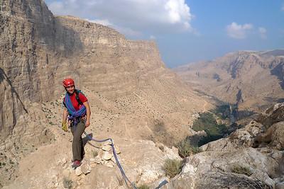 ...avec vue imprenable sur la parti haute du Wadi Tiwi.