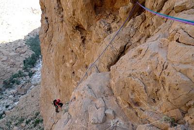 Nous avons grimpé corde tendu et fait 4 relais.