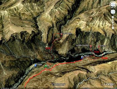 Wadi Tiwi, accès.