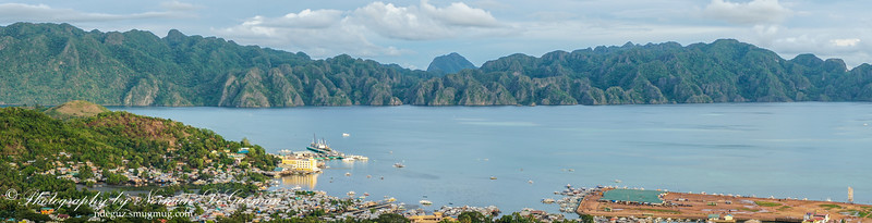 View of Coron Island halfway up Mt Tapyas