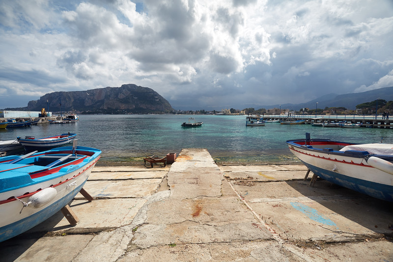 Port de Mondello, Palerme, Sicile, Italie