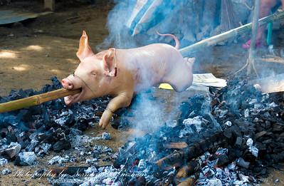 Roasting pig Filipino-Style