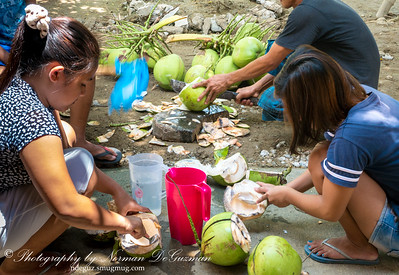 Preparing Buko Juice