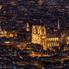 Notre Dame de Paris from la Tour Montparnasse
