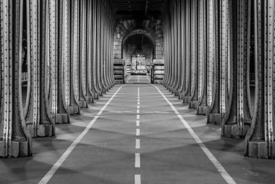 Under the Bir Hakeim bridge in Paris