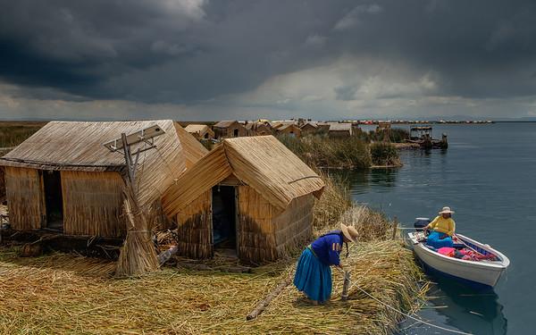 Los Uros, Lac Titicaca, Pérou