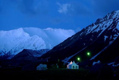 Pic Lénine, Kirghizstan: Ici le Camp de Base à 3600m, aussi esthétique que confortable...