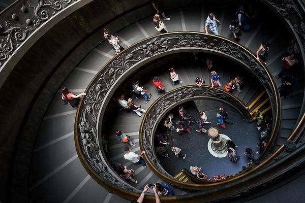 Escalier de Bramante, Vatican, Italie