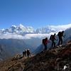 Peak 6444, Kang Tega, Thamserku, au fond Kyashar, puis Kusum Kaguru