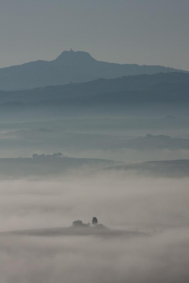 Val d'Orcia au petit matin.