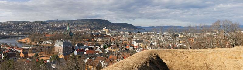 Trondheim - La ville vue de la Citadelle