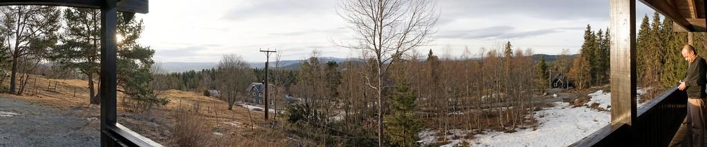 Trondheim Lian - De la terrasse de la Hytta
