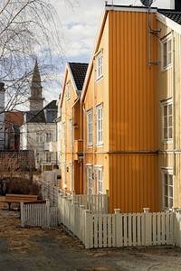 Trondheim - Maison en haut de Bakkegata