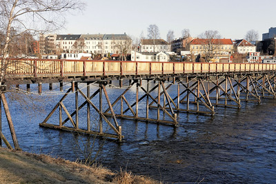 Trondheim - Passerelle sur la Nidelva