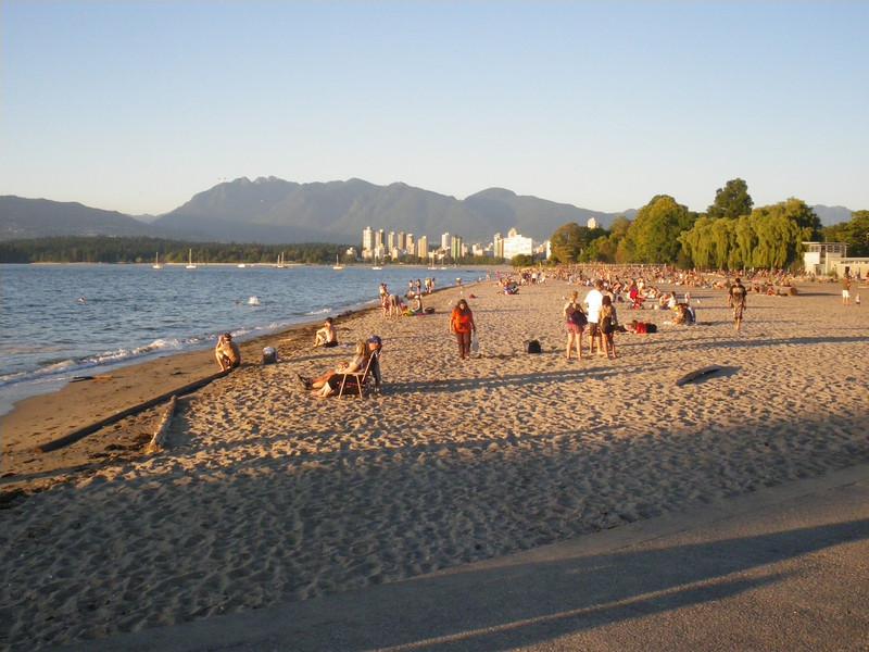 Kits beach, près de chez Maude.