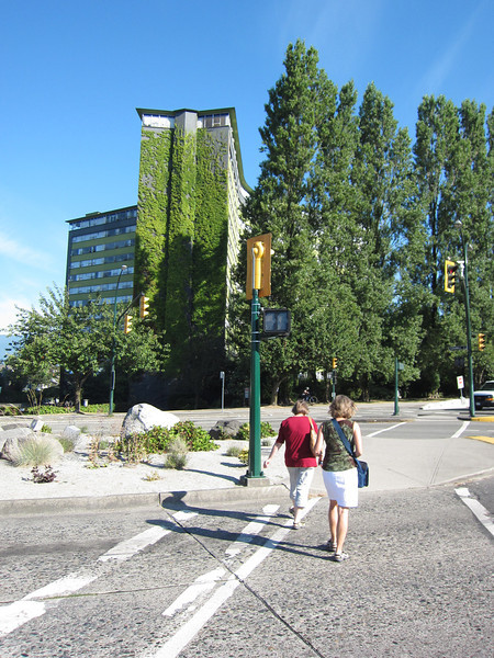 Kitsilano vers Vancouver downtown.