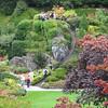 Les Butchards ont fait ces magnifiques jardins, dans une carrière à l'origine.