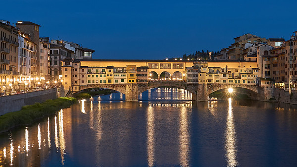 L'Arno à Florence, ses ponts, ses rives