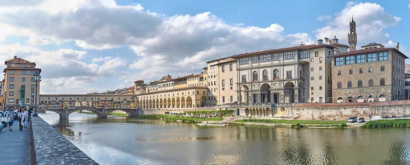 L'Arno à Florence, ses ponts, ses rives