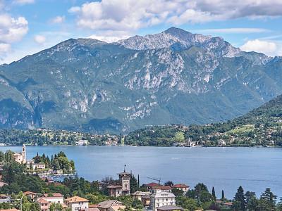 Greenway del Lago di Como - Mezzegra - Depuis le belvédère de l'église Parrochia di S. Abbondio