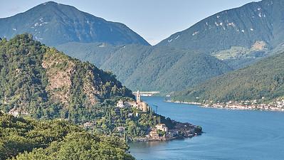 Lago di Lugano - Vue sur Morcote (Suisse) depuis la résidence à Cuasso Al Monte (Italie)