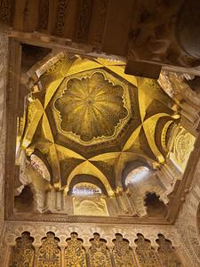 Cordoba - Mezquita / Catedral - Dôme surplombant le Mihrab