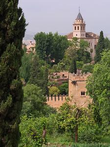 Granada - Alhambra - Torre de los Picos, Santa Maria de la Alhambra