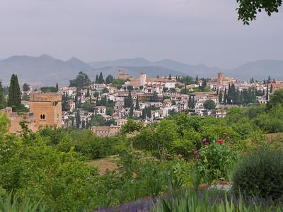 Granada - San Nicolas, depuis les jardins du Generalife